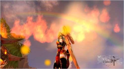魔兽世界猎人幻化推荐 彩虹下的火焰黑丝图片
